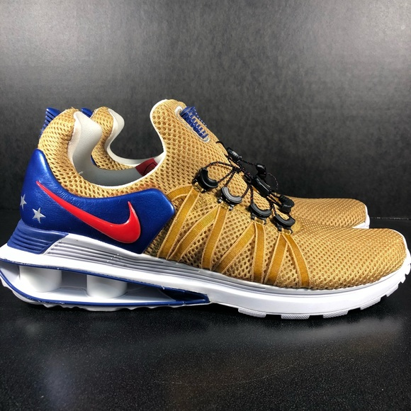 utterly stylish uk store clearance prices Men's Nike Shox Gravity AR1999-700 America Gold